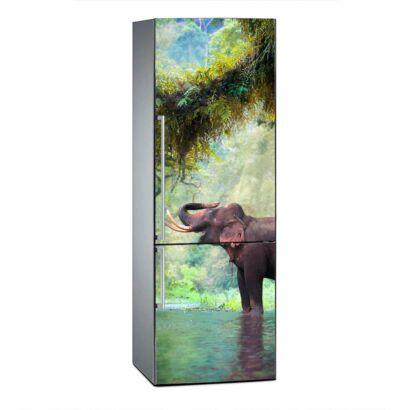 Vinilo Frigorífico Elefante en Bosque Tailandia