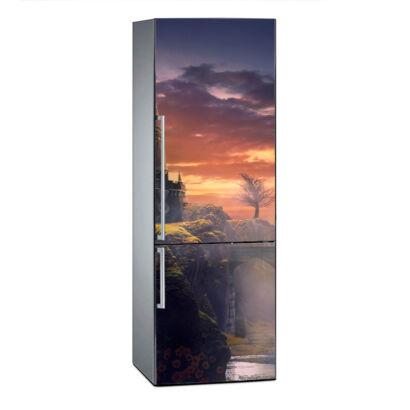 vinilo-frigorifico-puente-atardecer-vinilo
