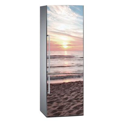 Vinilo Frigorífico Puesta de Sol en la Playa