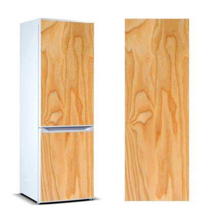 vinilo frigorifico vetas madera clara