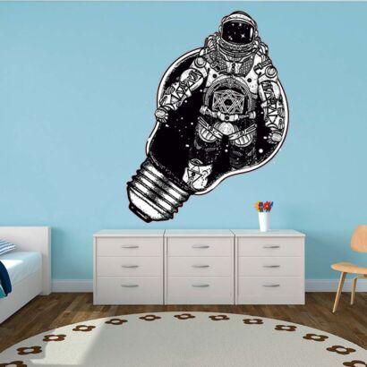 Vinilo Infantil Astronauta Universo