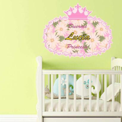Vinilo Infantil Duerme Princesa Personalizado