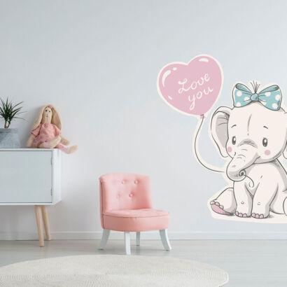 Vinilo Infantil Elefante Love You