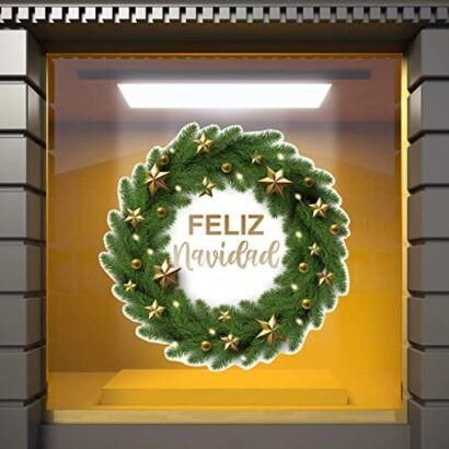 Vinilo navidad corona