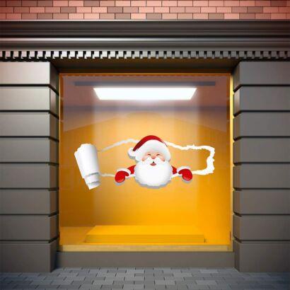 Vinilo Navidad Papá Noel Grieta