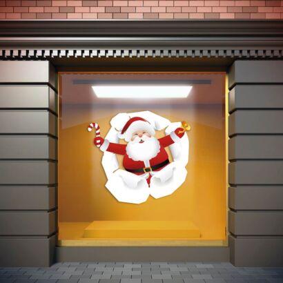 Vinilo Navidad Papá Noel Sorpresa