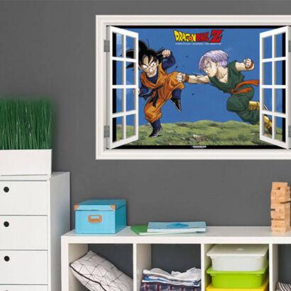 Vinilo efecto ventana Dragon Ball Goten y Trunk