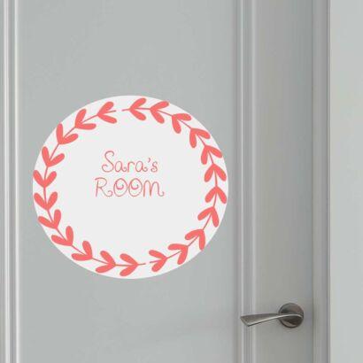 Vinilo Puerta Corona Espigas Personalizado