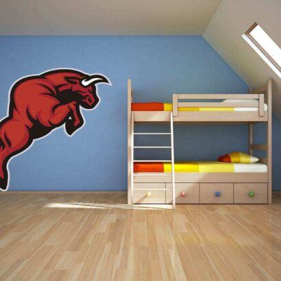 Vinilo Decorativo Toro Rojo