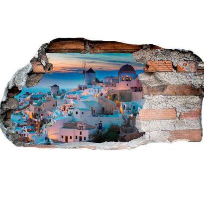Vinilo 3D Santorini Grecia