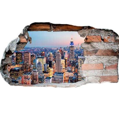 Vinilo 3D New York Anochecer