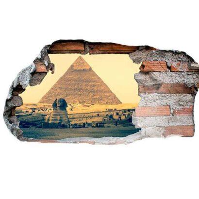 Vinilo 3D Pirámide Egipto