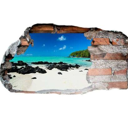 Vinilo 3D Playa Paradisíaca
