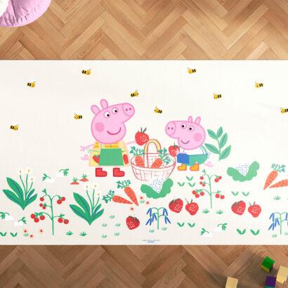 Alfombra Infantil Peppa Pig Espíritu Libre Vegetable Patch