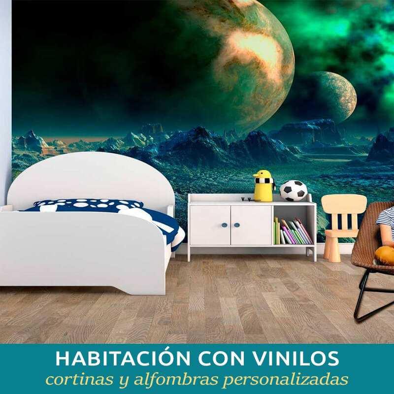 Personaliza tu habitación con vinilos, cortinas y alfombras a tu gusto