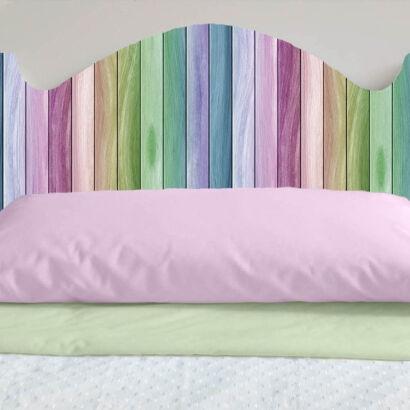 Cabecero Cama PVC Impresión Digital Imitación Madera Multicolor