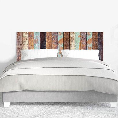 Cabecero Cama PVC Impresión Digital sin Relieve Imitación Colores Antiguos Madera