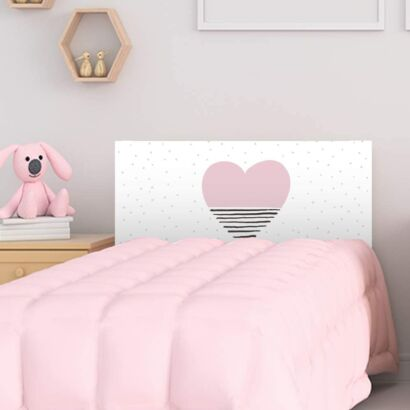 Cabecero Cama PVC Infantil Corazón