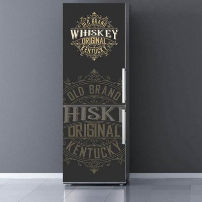 Vinilo Frigorífico Old Brand Whiskey Amarillo