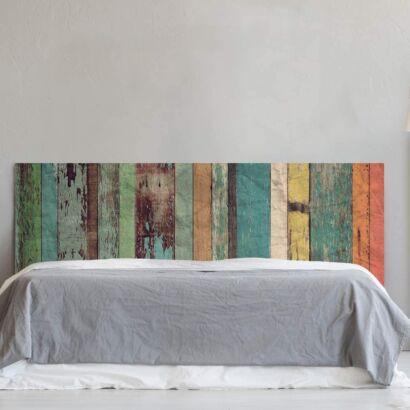 Cabecero Cama PVC Impresión Digital Imitación Madera Multicolor Antigua