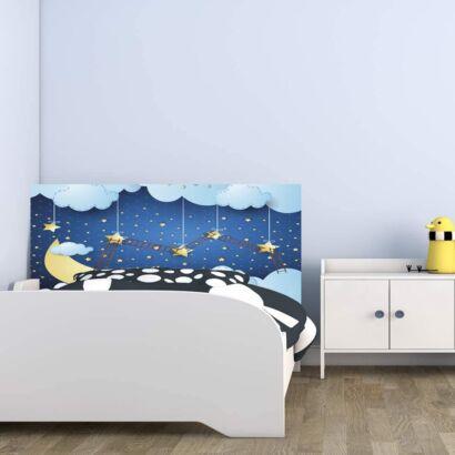 Cabecero Cama PVC Infantil Impresión Digital sin Relieve Escalera Noche Estrellada
