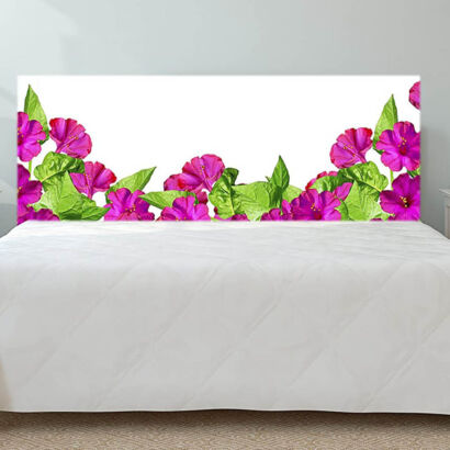Cabecero Cama Cartón Ecológico Impresión Digital sin Relieve Otoño Flores Aisladas sobre Fondo Blanco
