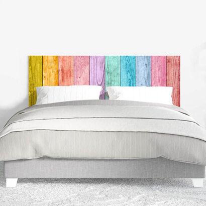 Cabecero Cama PVC Impresión Digital sin Relieve Madera de Colores