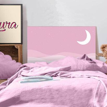 Cabecero Cama PVC Infantil Noche Rosa