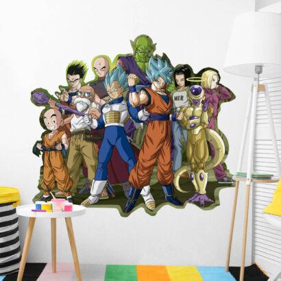 pegatina de pared conjunto de personajes dragon ball