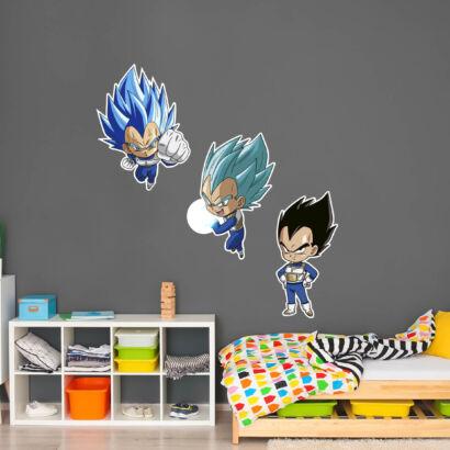 Pack de Pegatinas de Pared en Vinilo Dragon Ball Super Formas Vegeta
