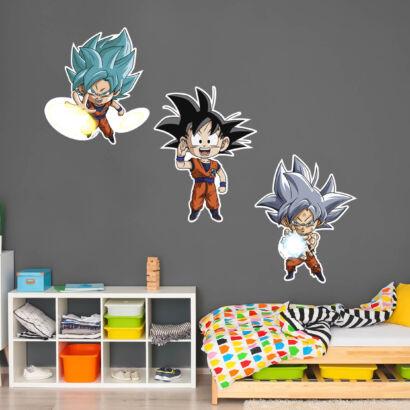 Pack de Pegatinas de Pared en Vinilo Dragon Ball Super Fases Goku