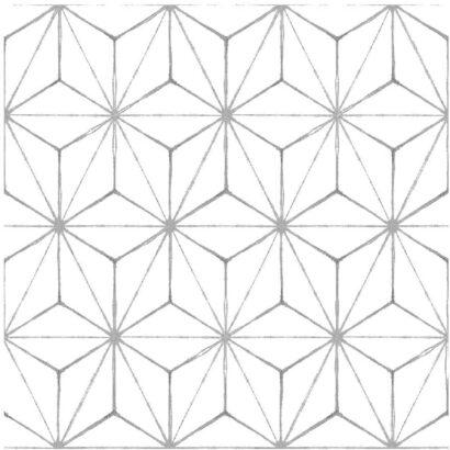 Vinilo para Suelo Figuras Geométricas Color Blanco