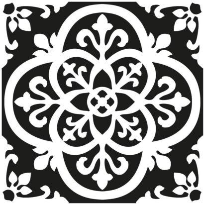 Vinilo para Suelo Positano Blanco y Negro