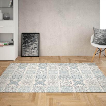 Alfombra Mosaico Color Azul
