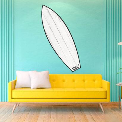 Tabla de Surf Madera Blanca