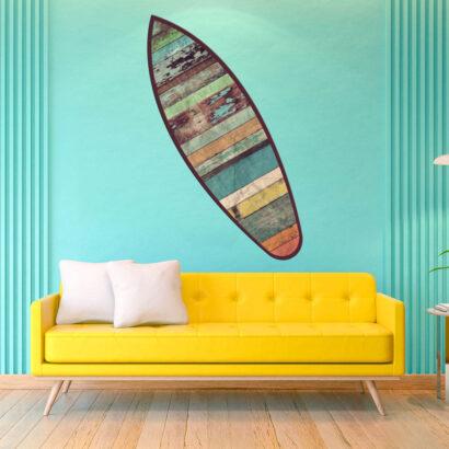 Tabla de Surf Madera Vieja