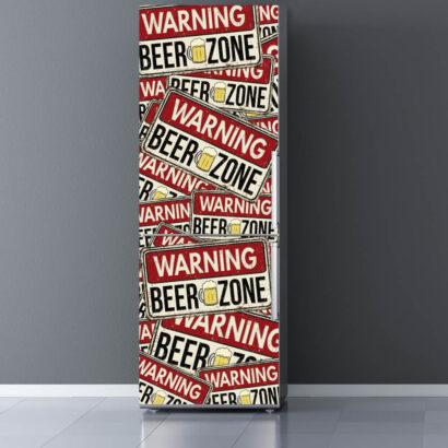 Vinilo Frigorífico Advertencia Zona de la Cerveza