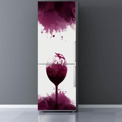 Vinilo Frigorífico Copa de Vino