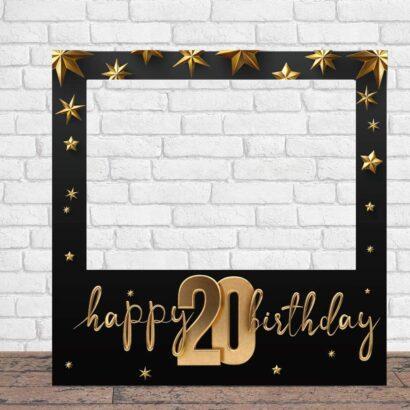Photocall Feliz Cumpleaños 20 Estrellas
