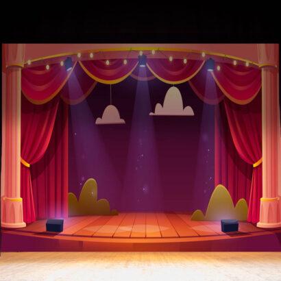 Fondo Fotográfico Escenario Teatro Animación