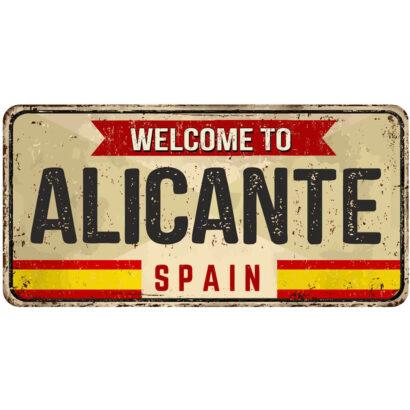 Matrícula Decorativa Alicante