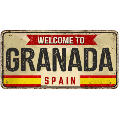 Matrícula Decorativa Granada