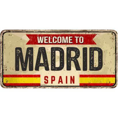 Matrícula Decorativa Madrid