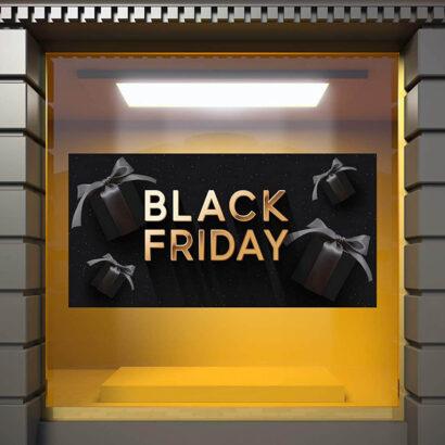 Vinilo Escaparate Black Friday Fondo Negro