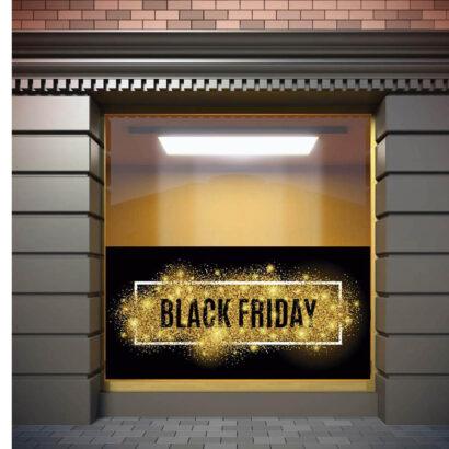 Vinilo Escaparate Black Friday Rebajas